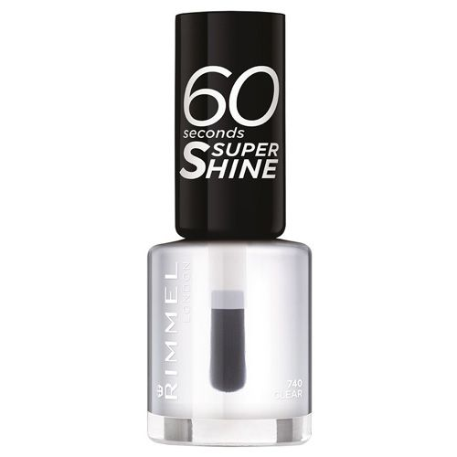 Rimmel London 60 Seconds Super Shine - 8 ml odstín: 740 Clear